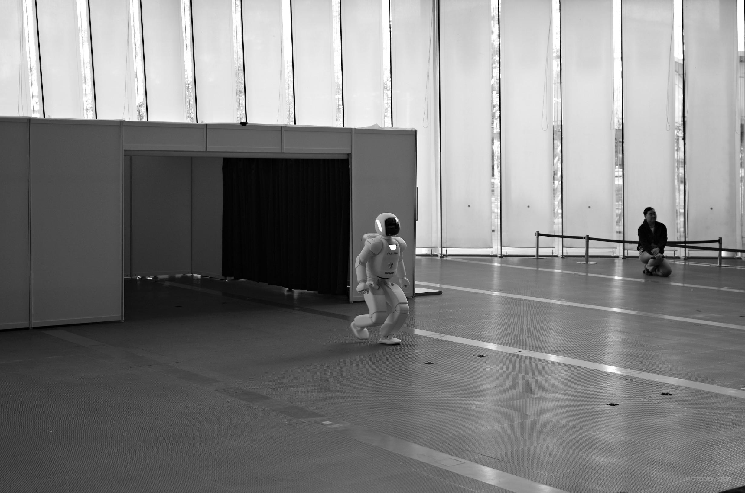 L'esibizione di ASIMO al museo Miraikan (della scienza emergente e dell'innovazione), dal quale Alessandra ha dovuto portarmi via con la forza.