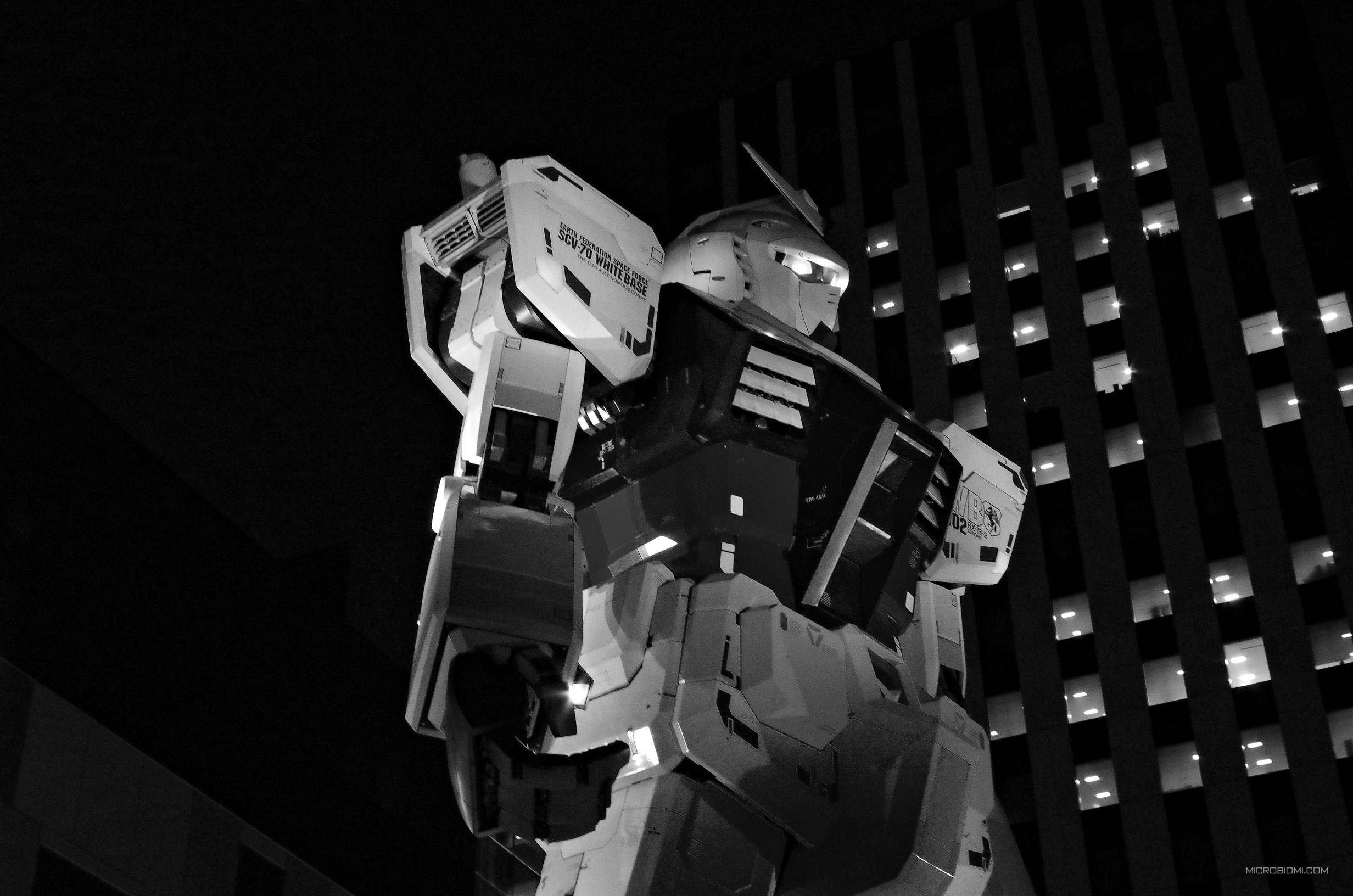 La statua di Gundam RX-78-2 a Tokyo - Odaiba. Ora è stata sostituita da una ancora più grande, raffigurante Unicorn Gundam